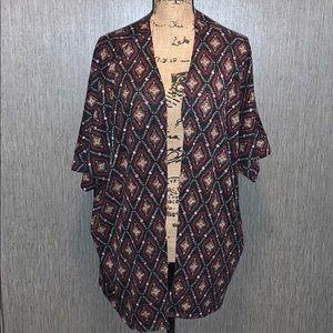 Torrid Diamond Pattern Short Sleeve Cardigan 2X